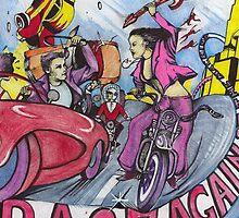 RAGE AGAINST THE MACHINE POSTER ( Plus Girls Against Boys ) by John Dicandia  ( JinnDoW )