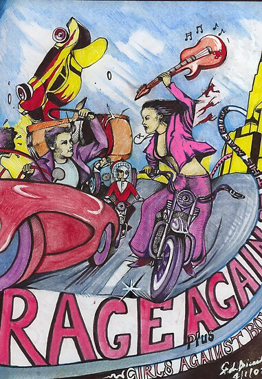 RAGE AGAINST THE MACHINE POSTER ( Plus Girls Against Boys ) by John Dicandia  ( JinnDoW )