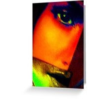 face two Greeting Card