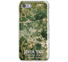 Denton Texas Map iPhone Case/Skin