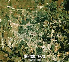 Denton Texas Map by Stacie Forest