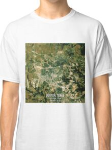 Denton Texas Map Classic T-Shirt