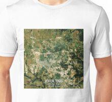 Denton Texas Map Unisex T-Shirt