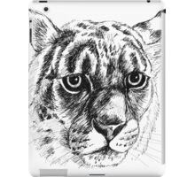 leopard drawing iPad Case/Skin