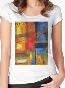 The JOY of Planning an Abstract Painting at Starbucks Women's Fitted Scoop T-Shirt