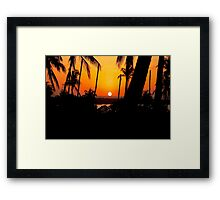 """SUNSET VIEW AT THE """"CROSSROADS"""" Framed Print"""