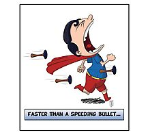 Look its a Bird! - Faster than a speeding bullet Photographic Print