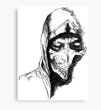 Scorpion Mortal Kombat X Canvas Print