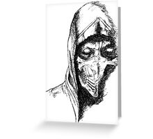 Scorpion Mortal Kombat X Greeting Card