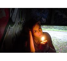 lighter girl Photographic Print