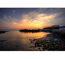 Portpatrick Harbour at Sunset Photographic Print