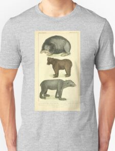 The Animal Kingdom by Georges Cuvier, PA Latreille, and Henry McMurtrie 1834 585 - Mammalia Mammals Unisex T-Shirt