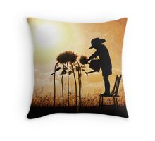 Watch them Grow Throw Pillow