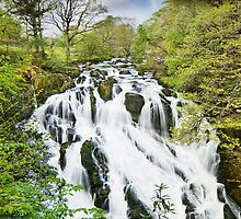 Swallow Falls - Betws-y-Coed - Wales by eddiej