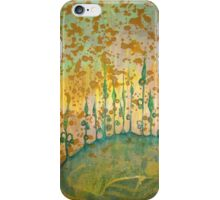 Yellow drippy green stalks iPhone Case/Skin