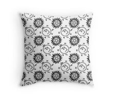 Angel/Demon protection  Throw Pillow