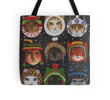 Cats in Winter Hats Tote Bag