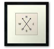 Compass - Natural Framed Print