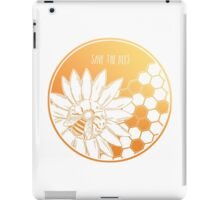 Save the Bees! iPad Case/Skin