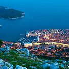 Walled City View of Dubrovnik, Croatia by Yen Baet