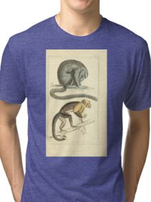 The Animal Kingdom by Georges Cuvier, PA Latreille, and Henry McMurtrie 1834 574 - Mammalia Mammals Tri-blend T-Shirt