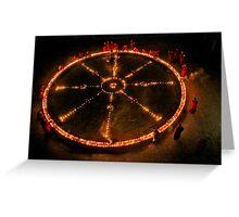 Dharma Wheel Puja Greeting Card
