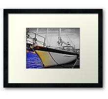 Head on Sail Framed Print