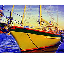 Head-on Full Color Sailboat Photographic Print