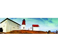 Pt Judith Lighthouse RI Photographic Print
