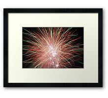 Night light sparkles a colourful delight Framed Print