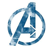 Watercolor Avengers Photographic Print