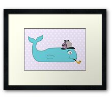 Detective Whale Framed Print