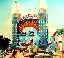 Luna Park by Guntis Jansons