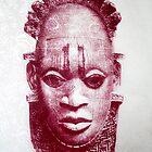 Floral Benin Mask by Katie Grubb