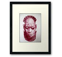 Floral Benin Mask Framed Print