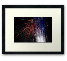 Night light sparkles a colourful delight Framed Print