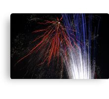 Night light sparkles a colourful delight Canvas Print