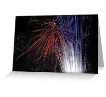 Night light sparkles a colourful delight Greeting Card
