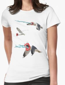 Lazer seagull Womens Fitted T-Shirt