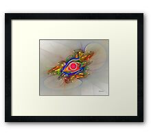 'Light Flame Abstract 024' Framed Print