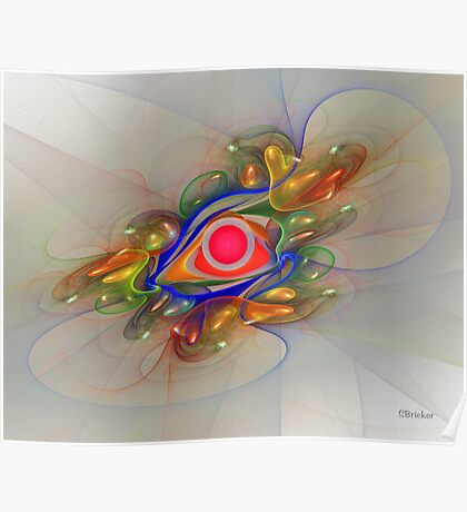 'Light Flame Abstract 024' Poster
