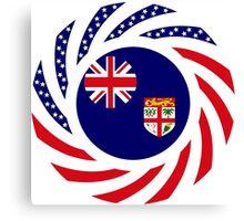 Fijian American Multinational Patriot Flag Series Canvas Print