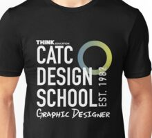 CATC Design School White Writing Unisex T-Shirt