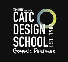 CATC Design School White Writing Unisex T-Shirt