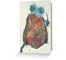 funky face 2 Greeting Card