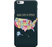 Kawaii States of America iPhone Case/Skin