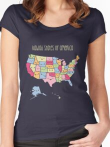 Kawaii States of America Women's Fitted Scoop T-Shirt