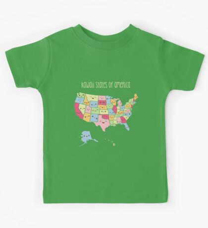 Kawaii States of America Kids Tee