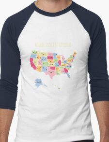 Kawaii States of America Men's Baseball ¾ T-Shirt