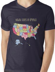 Kawaii States of America Mens V-Neck T-Shirt